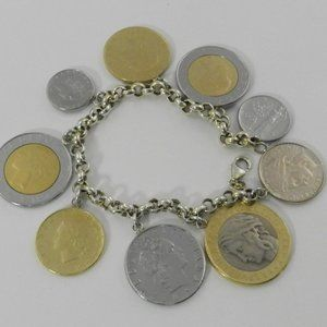 Macy's Vermeil Bracelet, Lira Coins Charm …